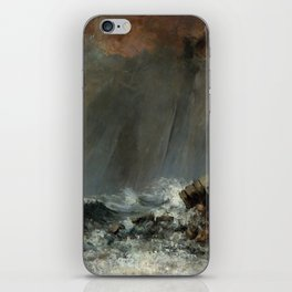 Marine Waterspout Gustave Courbet 1870 iPhone Skin