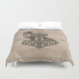 Mjolnir  - the hammer of Thor Duvet Cover