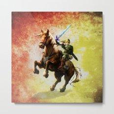 Legend Of Zelda Link Adventure Metal Print