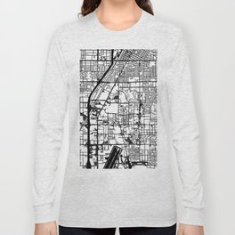 Las Vegas city map Long Sleeve T-shirt