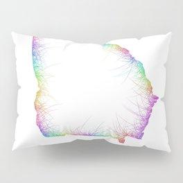 Rainbow Georgia map Pillow Sham