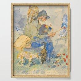 """Théophile Steinlen  """"Autoportrait aux chats"""" Serving Tray"""