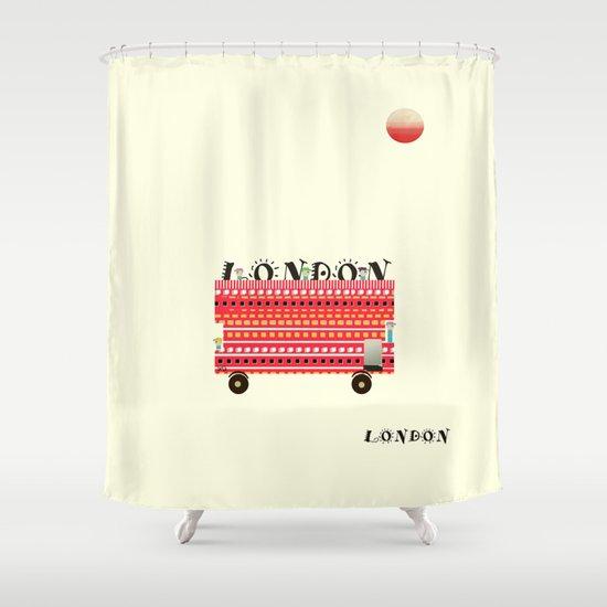 london mini icon  Shower Curtain