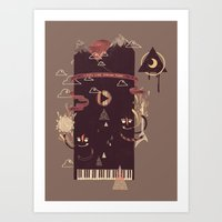 play Art Prints featuring Play! by Hector Mansilla
