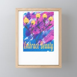 Watercolor Floral Embrace Beauty Flower Lover Framed Mini Art Print