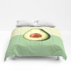 Avocado Half Slice, Tropical Fruit Comforters