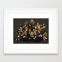 snk Framed Art Prints featuring SNK by kanda3egle