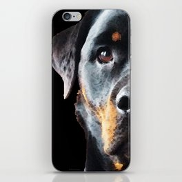 Rottie Love - Rottweiler Art By Sharon Cummings iPhone Skin