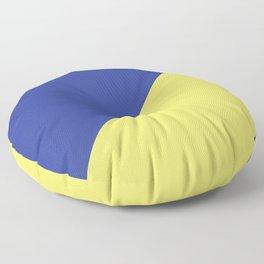Modern royal blue sunshine yellow trendy color block Floor Pillow