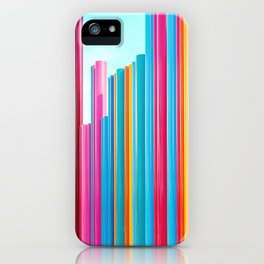 Colorful Rainbow Pipes iPhone Case