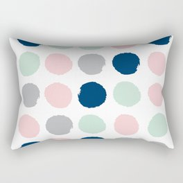 Minimal painted dots gender neutral home decor minimalist nursery baby polka dots Rectangular Pillow