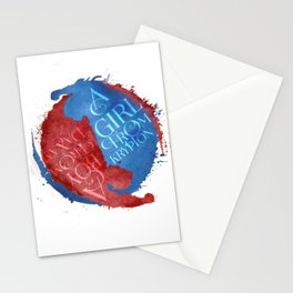 a girl from krypton - supervalor yin yang Stationery Cards