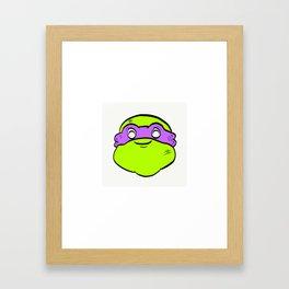 Chubby Turtle Framed Art Print