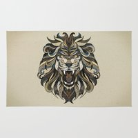 lion Area & Throw Rugs featuring Lion by Andreas Preis