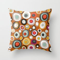 veneto boho spot amber Throw Pillow