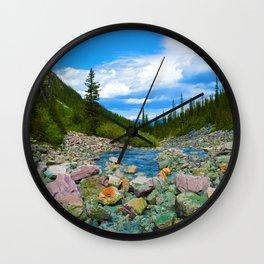 Geraldine Lakes Hike in Jasper National Park, Canada Wall Clock