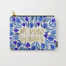 In Wine, There is Truth – Navy & Gold Carry-All Pouch