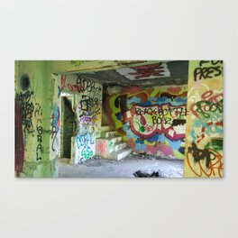 Abandoned Graffiti Canvas Print