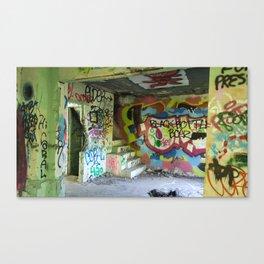 Abandoned Graffiti Canvas Print
