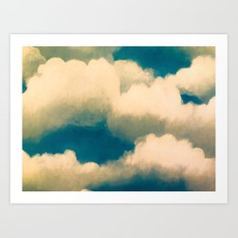 Light and fluffy clouds in the sky Art Print