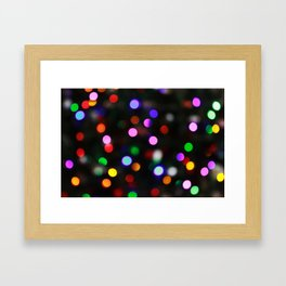 Bright Colored Christmas Lights Framed Art Print
