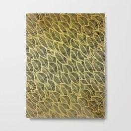 Golden pattern Metal Print