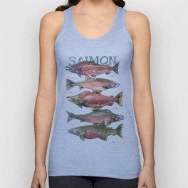 Salmon Salmon Salmon Unisex Tank Top