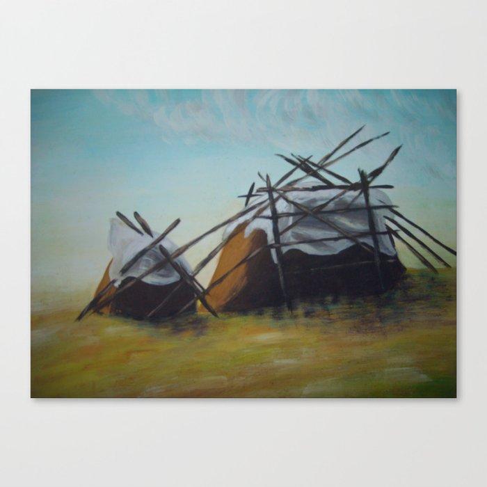 Dreaming hayricks / Unelevad rõugud Canvas Print