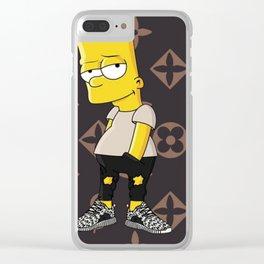 Supreme X LV X Boost 350 X Bart Clear iPhone Case