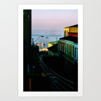 chile Art Prints featuring Valparaiso, Chile. by Volta's Online Store