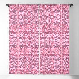 Tribal motif in pink Blackout Curtain