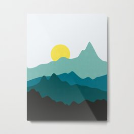 Sunset in the orient Metal Print