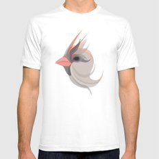 Pink in bird White Mens Fitted Tee MEDIUM