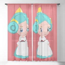 Fallas Doll Baby Girl Nursery Fallera art print Childrens Wall Art Baby Room Decor Kids Print Sheer Curtain