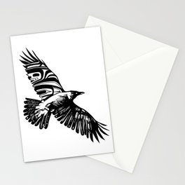 Moonlight Raven Stationery Cards