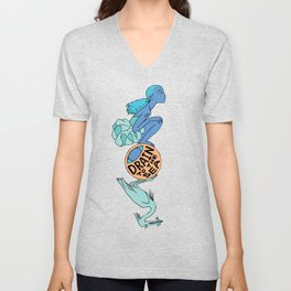 Heron - EYE Drain to the Sea Unisex V-Neck