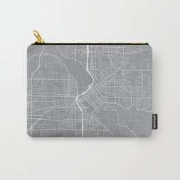 Cedar Rapids Map, Iowa USA - Pewter Carry-All Pouch