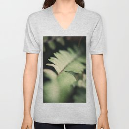 Blurred Close Up Of Fern Leaf Unisex V-Neck