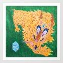 二 Curiosity (Neon Horned Tiger finds a Blue Diamond in the Green Dimension) by tigereater
