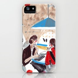 At the Cafe iPhone Case