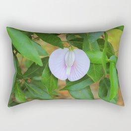 Purple Buttefly-Pea Flower Rectangular Pillow