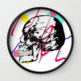 Skull ,abstract graphic design Wall Clock