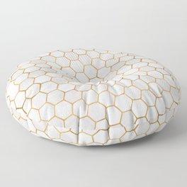 Geometric Hexagonal Pattern Floor Pillow