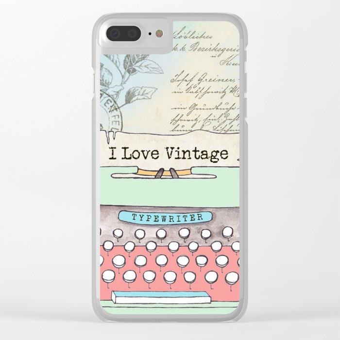 Typewriter #2 Clear iPhone Case