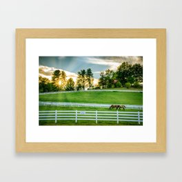 Sunrise on the Ranch Framed Art Print