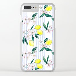 Lemon Leaves Clear iPhone Case