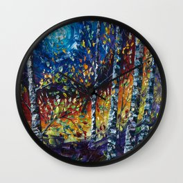 Moonlight Sonata with a Palette Knife Wall Clock