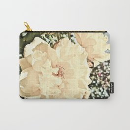 Sandy Pink Roses With Bokeh Carry-All Pouch