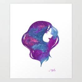 galactic hair Art Print