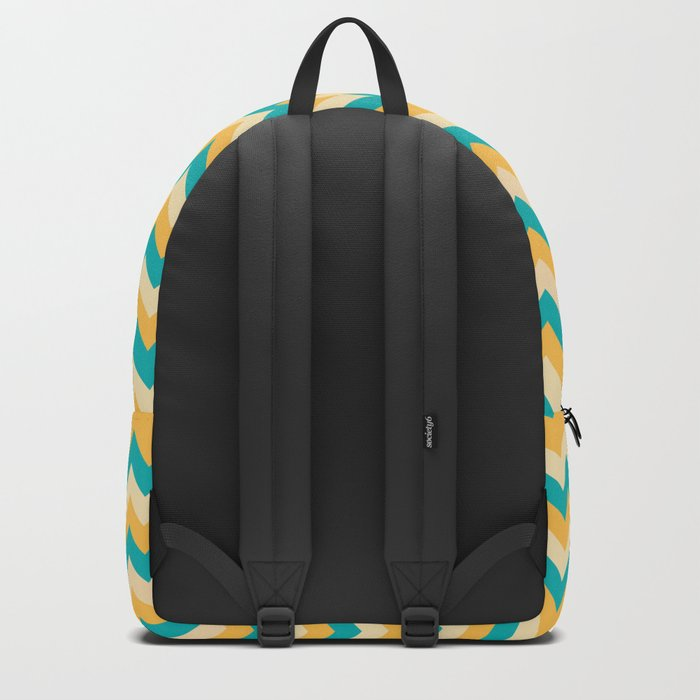 Colorful Chevron Pattern Backpack